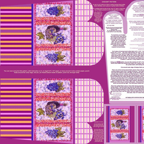 Plaid Wine and Grapes Stripes Oven Mitt Pattern Instructions on Piece Pattern plus Ornament Pattern on Fat Quarter by Kristie Hubler