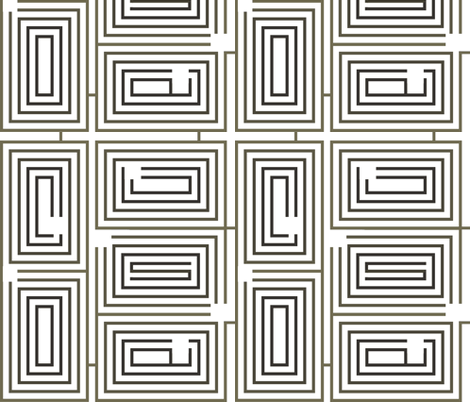 Maze One fabric by wren_leyland on Spoonflower - custom fabric