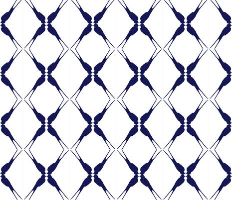 one swallow fabric by juffrouw_sanseveria on Spoonflower - custom fabric