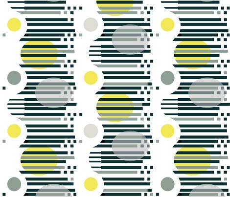 Op Art flag-safflower yellow black white fabric by wren_leyland on Spoonflower - custom fabric