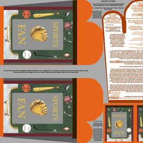 Sports Fan Oven Mitt Pattern  plus Instructions on Piece Pattern plus Ornament Pattern Fat Quarter by Kristie Hubler