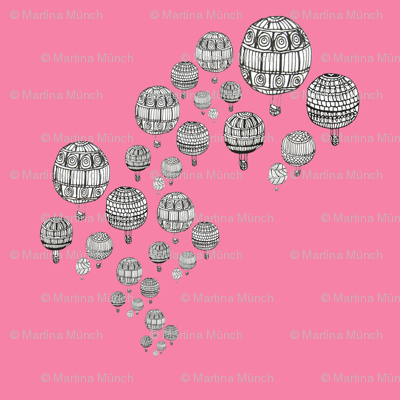 balloons in pink