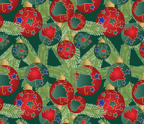 Christmas tree fabric by kociara on Spoonflower - custom fabric