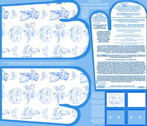 Aquabluetoileovenmittsfabricpatternfatquarterwithpaperpattern_shop_preview