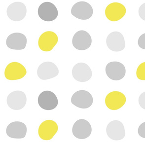 Mod Gray Yellow Dots