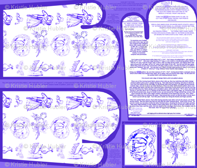 Blue Toile Oven Mitt Pattern and Ornament Pattern plus Instructions on Piece Pattern on Fat Quarter by Kristie Hubler
