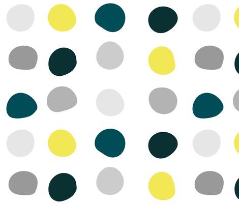 Color Dots - irregular spacing fabric by wren_leyland on Spoonflower - custom fabric