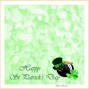 Happy St_Patrick_Quilt Block