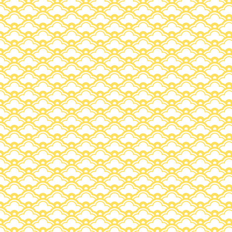 matsukata mini in citrine fabric by chantae on Spoonflower - custom fabric