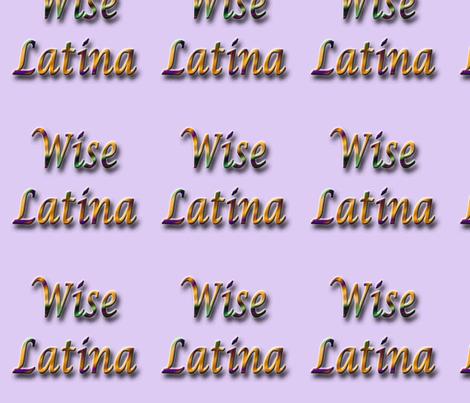Wise Latina lavender fabric by technorican on Spoonflower - custom fabric