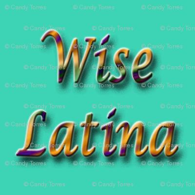 Wise Latina aqua