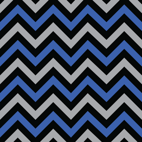 Evil Robot Chevron (Blue) fabric by robyriker on Spoonflower - custom fabric