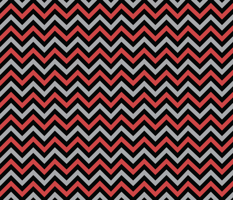 Evil Robot Chevron (Red) fabric by robyriker on Spoonflower - custom fabric