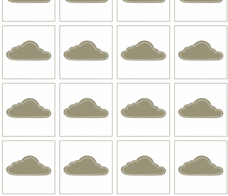 Cloud 9 Patch Mocha fabric by designedtoat on Spoonflower - custom fabric