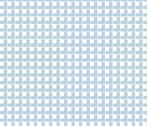Cloud 9 Check Sky fabric by designedtoat on Spoonflower - custom fabric