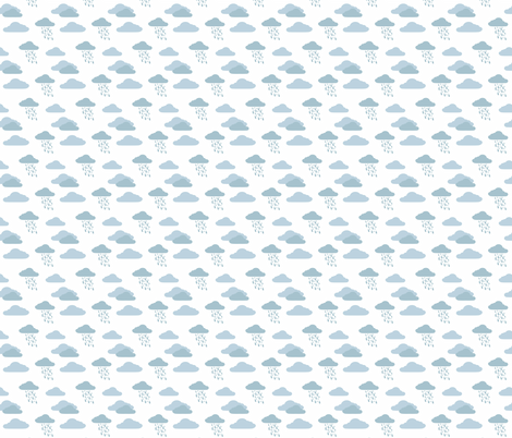 Cloud 9 Cloudburst Sky fabric by designedtoat on Spoonflower - custom fabric