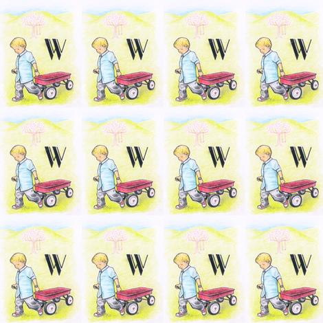 alphabet_W fabric by rutherbrad on Spoonflower - custom fabric