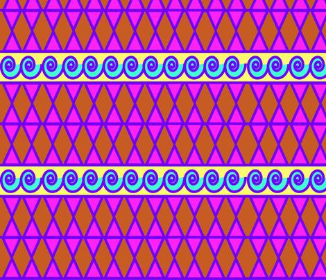 Wave Print fabric by honeybeebilli on Spoonflower - custom fabric