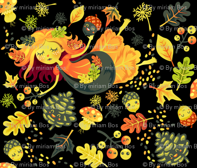 Autumn Fairy in black