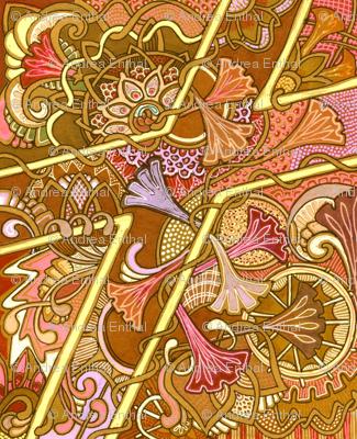 Autumn's Flowered Path