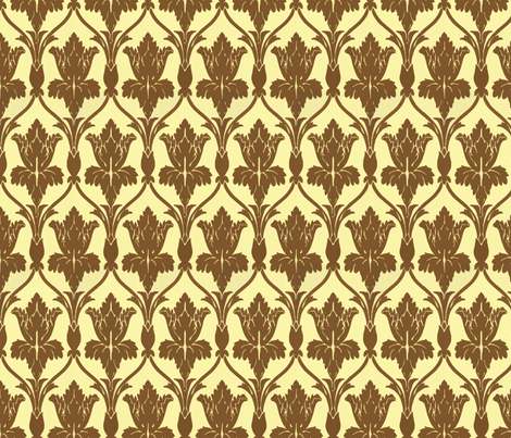 The Walls of 221b Baker Street fabric by fentonslee on Spoonflower - custom fabric
