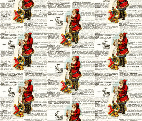 Santa's List fabric by leahvanlutz on Spoonflower - custom fabric