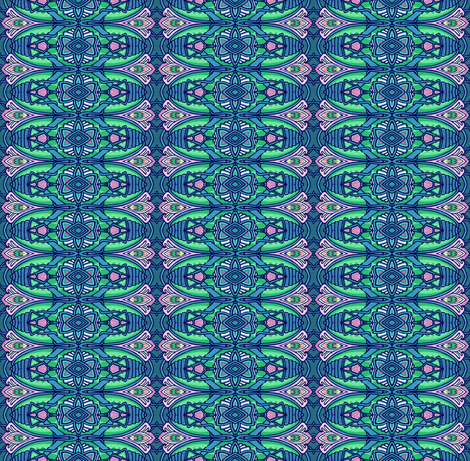 Broach Approach (Intensely Teal Vertical Stripe) fabric by edsel2084 on Spoonflower - custom fabric