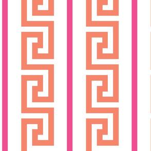 greek_key_strip orange/pink