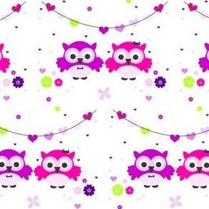 Owl Be Darned - Owl Couple - © PinkSodaPop 4ComputerHeaven.com