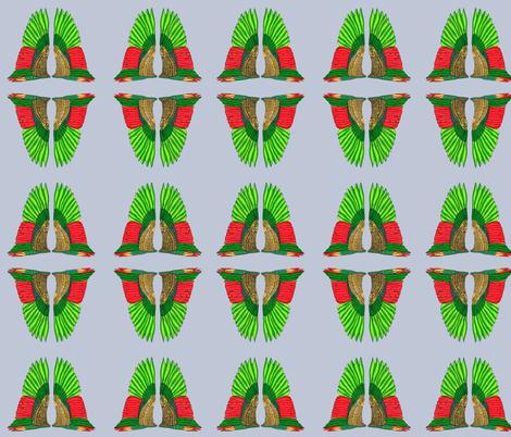 Nouveau wings fabric by shelleycowan on Spoonflower - custom fabric