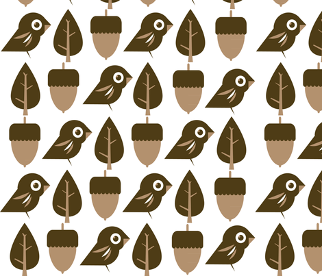 Woodland Simplicity fabric by {whimsy} on Spoonflower - custom fabric