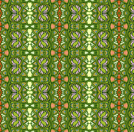 Over and Over Scallops and Clover (Vertical Stripe) fabric by edsel2084 on Spoonflower - custom fabric