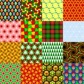 seasonal patches - xmas