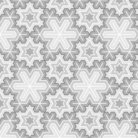snowflake (9) detailed fabric by sef on Spoonflower - custom fabric