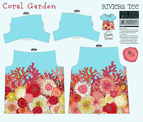 Coral Garden Tee fabric by scrummy on Spoonflower - custom fabric