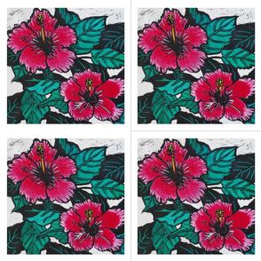 Hibiscus Print for Napkins (c)indigodaze2012