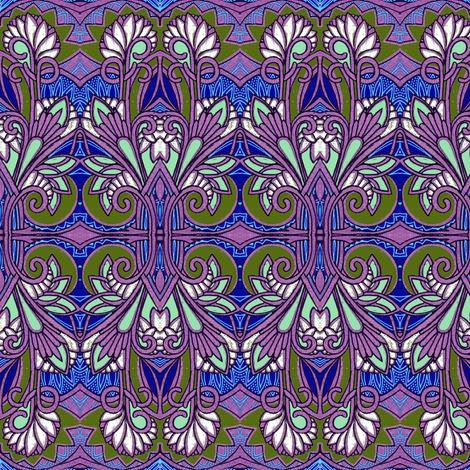 Art Nouveau Bouquet fabric by edsel2084 on Spoonflower - custom fabric