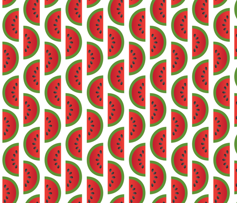 watermelons fabric by melhales on Spoonflower - custom fabric