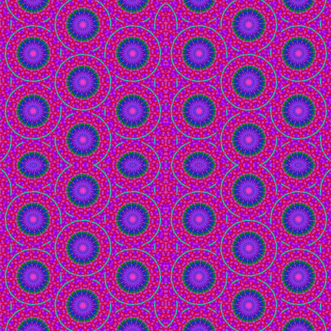 Flower Power - 14 Needles and Leaf Pattern fabric by dovetail_designs on Spoonflower - custom fabric