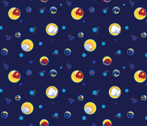 Hidden Heroes fabric by hootenannit on Spoonflower - custom fabric