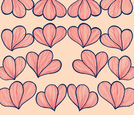 Petals -ch-ch fabric by syllatham on Spoonflower - custom fabric