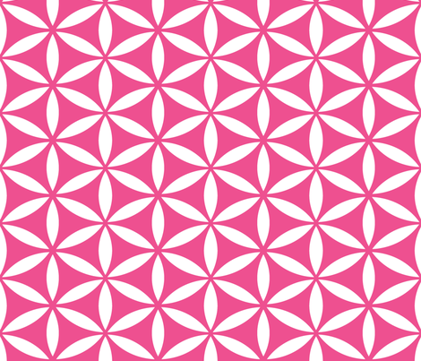 Flower of Life - Magenta fabric by pixeldust on Spoonflower - custom fabric