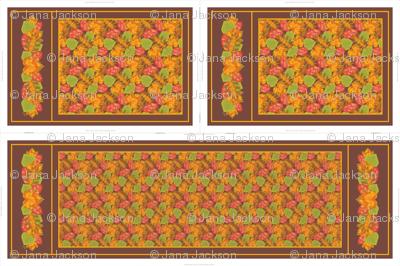 Autumn Leaves Table Runner & Tea Towels