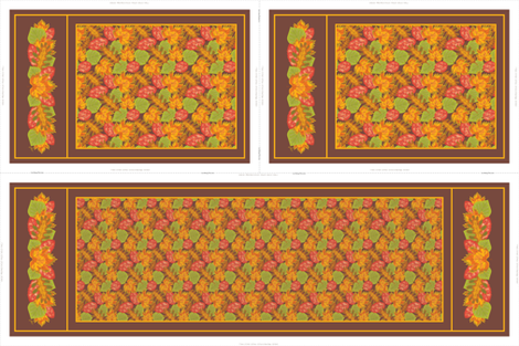 Autumn Leaves Table Runner & Tea Towels fabric by jjtrends on Spoonflower - custom fabric
