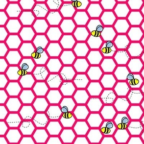 Buzz Bee Pink and White Hive