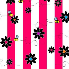Buzz Bee Stripes Pink