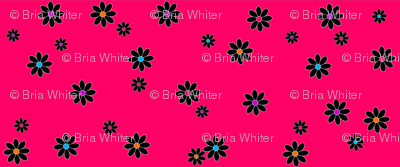 Buzz Bee Pink Flowers