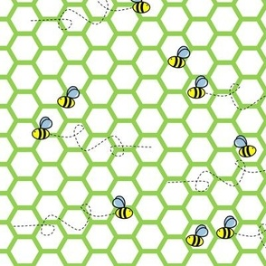 Buzz Bee Green and White Hive