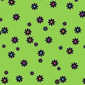 Buzz Bee Green Flowers