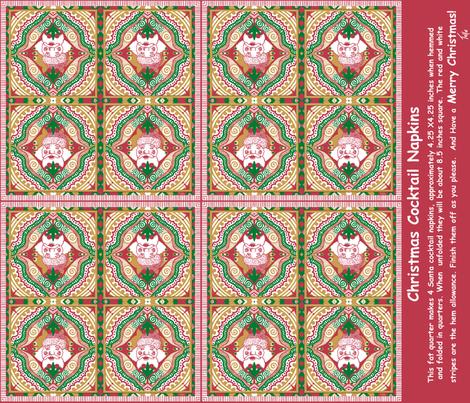 Cocktails with Santa! fabric by tallulahdahling on Spoonflower - custom fabric